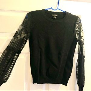 ASOS black sweater/top w lace sleeves